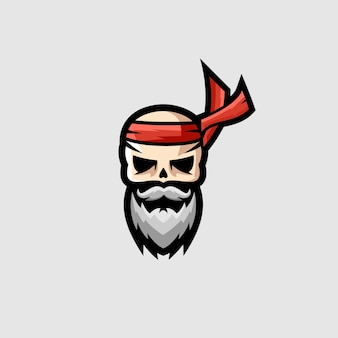 Logotipo de esports do crânio ninja
