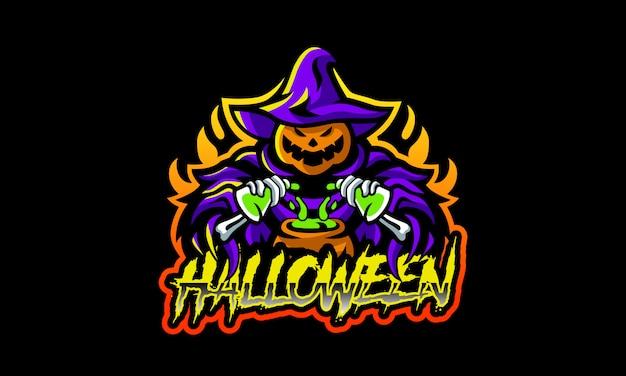 Logotipo de esports do horror do dia das bruxas