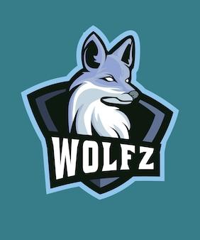 Logotipo de esports do lobo cinzento