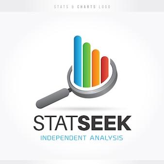 Logotipo de estatísticas e gráficos