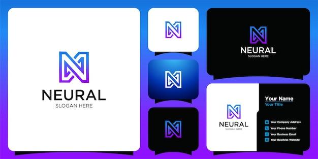 Logotipo de estilo b de tecnologia