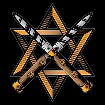 Logotipo de faca vintage