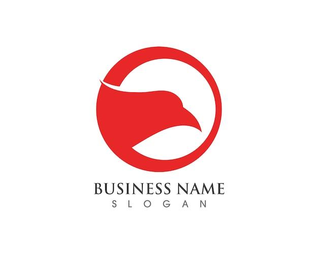 Logotipo de falcão de cabeça de águia e símbolo