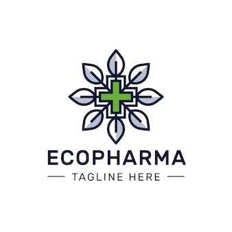 Logotipo de farmácia ecológica