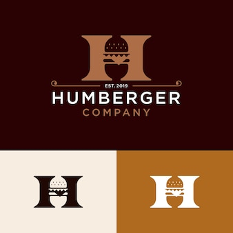 Logotipo de fast-food elegante restaurante vintage