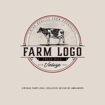 Logotipo de fazenda vintage