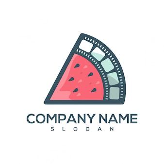 Logotipo de filme de melancia