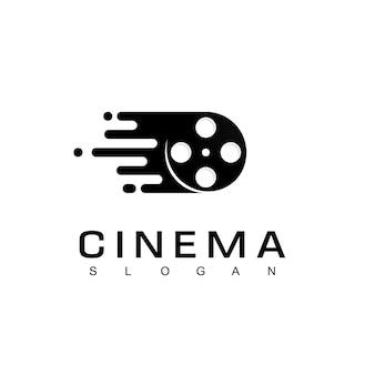 Logotipo de filme rápido, modelo de design de logotipo de cinema