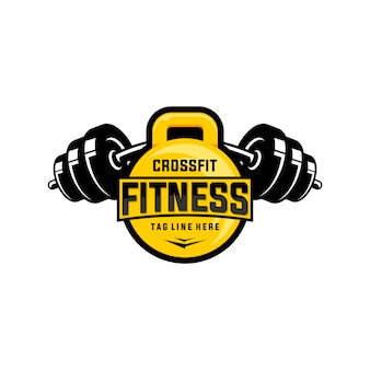 Logotipo de fitness e crossfit healty care