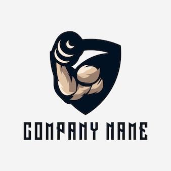Logotipo de fitness ginásio