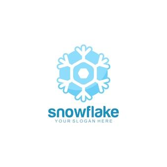 Logotipo de floco de neve pronto para uso