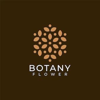 Logotipo de flor botânica minimalista feminina para decoração de spa