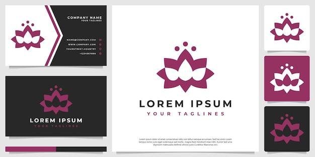 Logotipo de flor de lótus abstrato minimalista