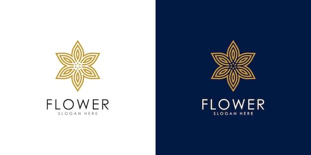 Logotipo de flor elegante abstrato