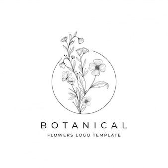 Logotipo de flores botânicas