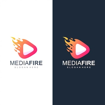 Logotipo de fogo de mídia