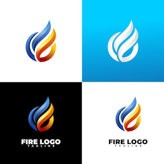 Logotipo de fogo moderno e luxuoso