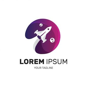 Logotipo de foguete para empresa de inicialização