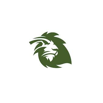 Logotipo de folha de leão