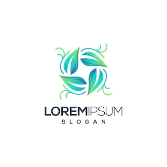 Logotipo de folha do círculo