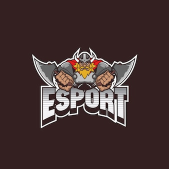 Logotipo de força viking
