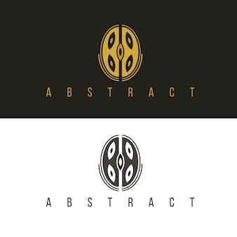 Logotipo de forma abstrata em duas versões