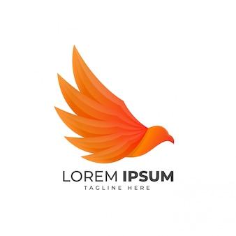 Logotipo de forma de águia