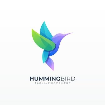 Logotipo de forma de grade colorida de coelho