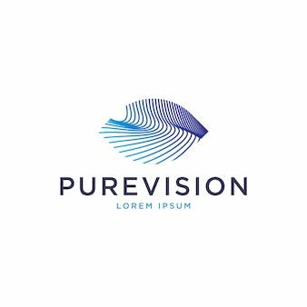 Logotipo de forma de olho abstrato dinâmico