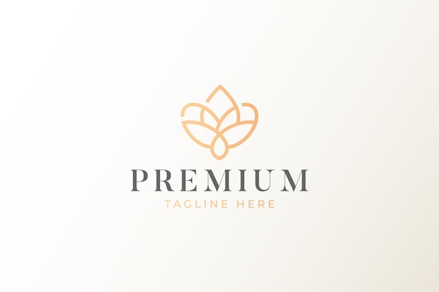 Logotipo de forma geométrica natural premium
