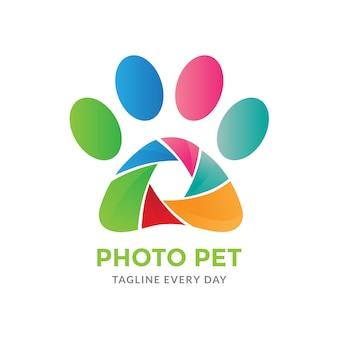 Logotipo de fotografia de animais de estimação