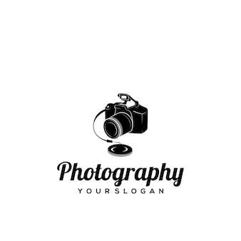 Logotipo de fotografia de silhueta