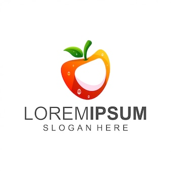 Logotipo de frutas frescas