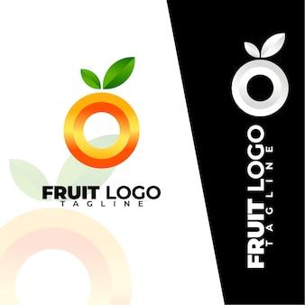 Logotipo de frutas simples e moderno
