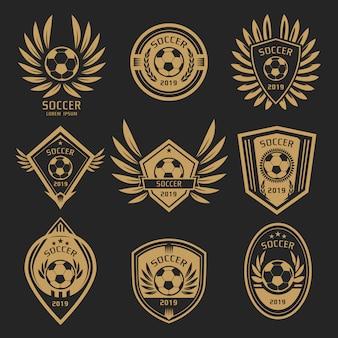 Logotipo de futebol de ouro
