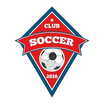 Logotipo de futebol do vetor