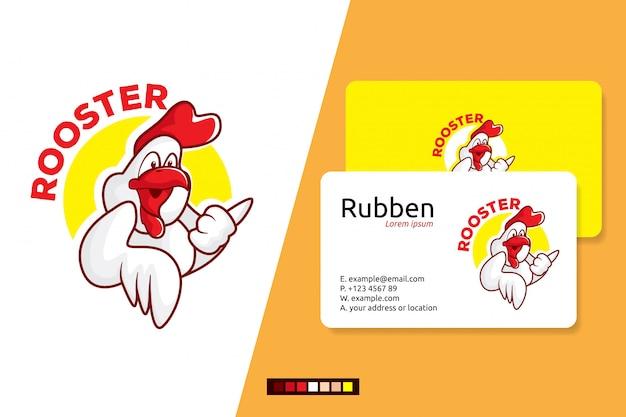 Logotipo de galos para cartões de visita