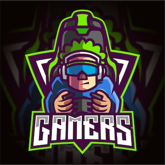 Logotipo de gamers esport gaming