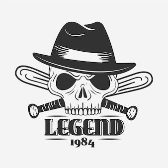 Logotipo de gangster de design retro