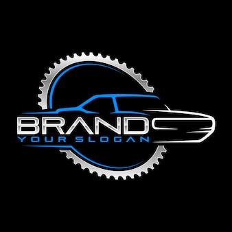 Logotipo de garagem clássico