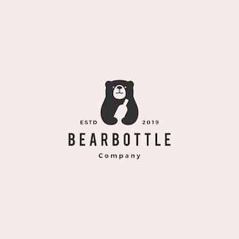 Logotipo de garrafa de urso