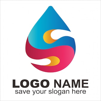 Logotipo de gás e óleo criativo letra s