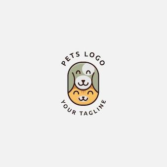 Logotipo de gato e cachorro