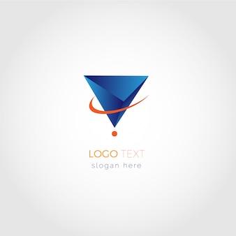 Logotipo de geometria 3d virtual v