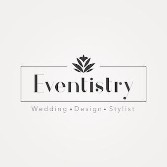 Logotipo de gerenciamento de eventos