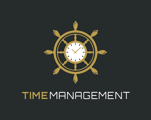 Logotipo de gerenciamento de tempo.