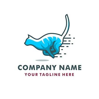 Logotipo de gestão de gato