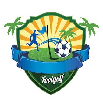 Logotipo de golfe de futebol