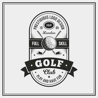 Logotipo de golfe vintage detalhado