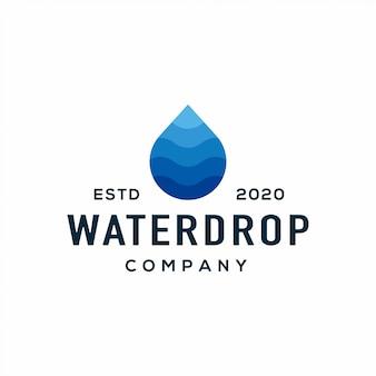 Logotipo de gota de água líquida e ícone.